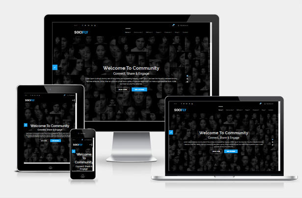 Bootstrap social Network Template Unique socifly