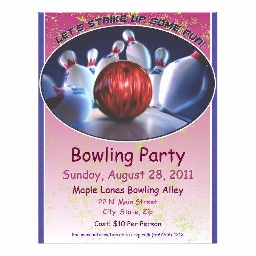 Bowling Flyer Template Free Elegant Bowling Flyer