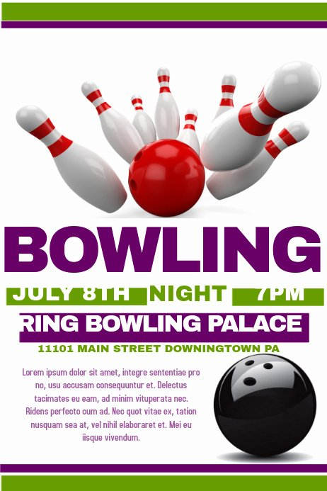 Bowling Flyer Template Free Inspirational Bowling Flyer Template