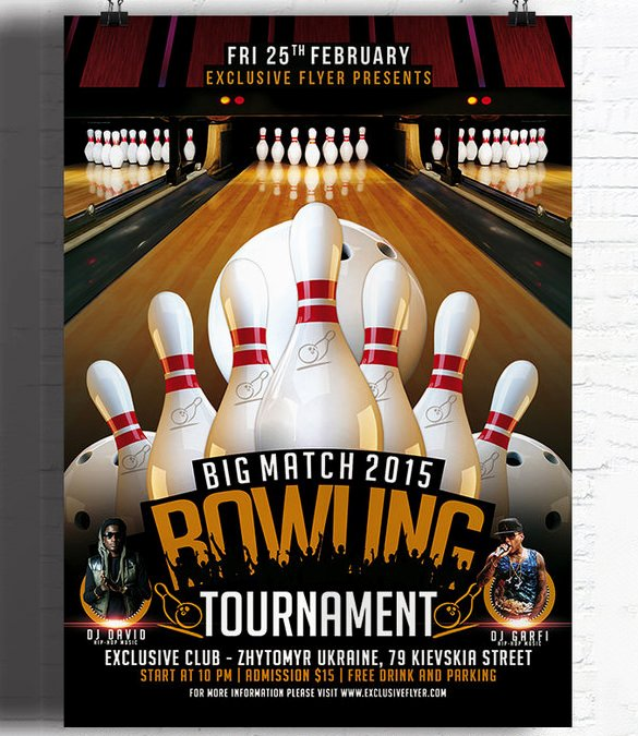 Bowling Flyer Template Free Lovely 24 Outstanding Bowling Invitation Templates & Designs Psd Ai