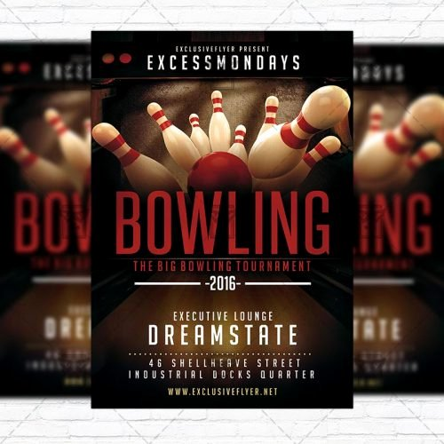 Bowling Flyer Template Free Lovely the Big Bowling – Premium Flyer Template Instagram Size Flyer Exclsiveflyer