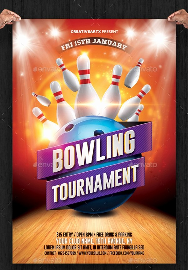 Bowling Flyer Template Free Luxury 23 Bowling Flyer Psd Vector Eps Jpg Download