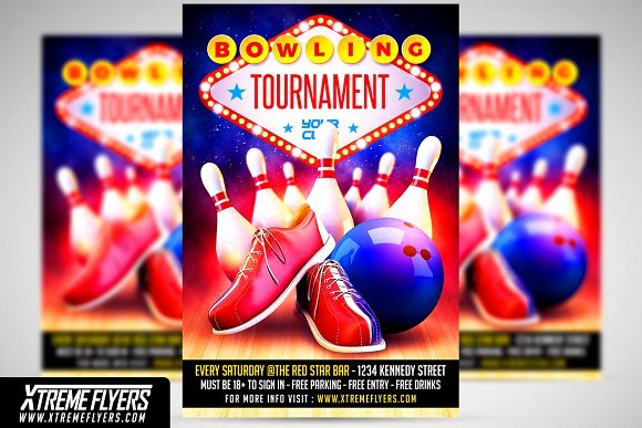 Bowling Flyer Template Free Luxury Free Kickball tournament Flyer Template Designtube Creative Design Content