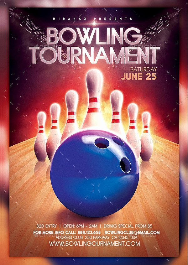 Bowling Flyer Template Free New 27 Bowling Flyer Templates Psd Ai Eps Vector format Download