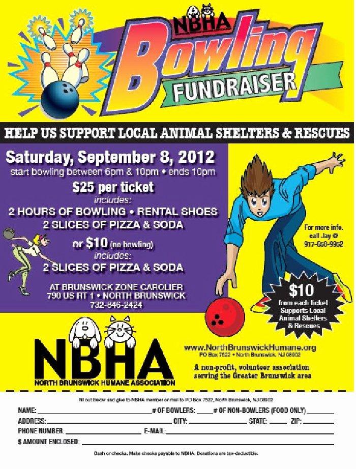 Bowling Fundraiser Flyer Template Beautiful Bowling Fundraisernorth Brunswick Humane association
