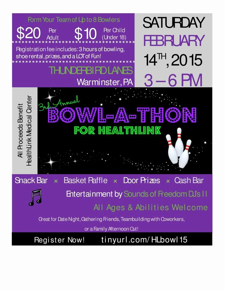 Bowling Fundraiser Flyer Template Inspirational 10 Best Images About Bowling Party April 2 2016 On Pinterest