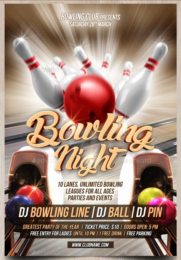Bowling Fundraiser Flyer Template Lovely 21 Bowling Flyer Designs Psd Download
