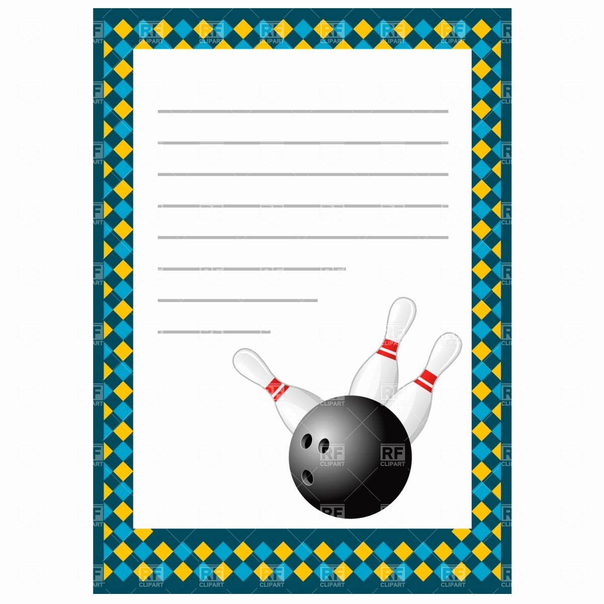 Bowling Invitation Template Free Inspirational Cardit