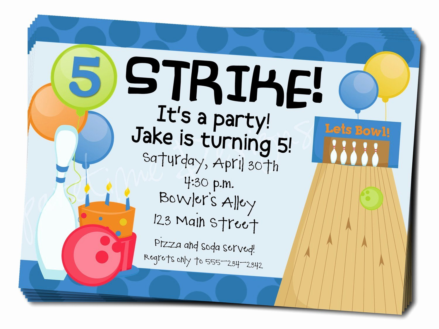 Bowling Invitation Template Free Unique Bowling Birthday Party Invitation Wording