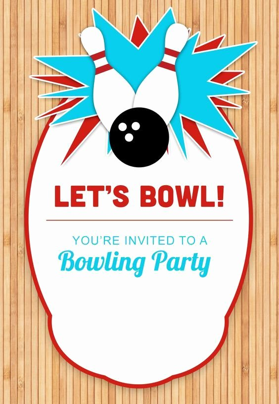 Bowling Party Invitation Template Beautiful Bowling Party Free Printable Birthday Invitation Template Greetings island