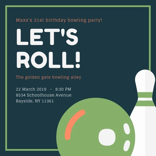 Bowling Party Invitation Template Elegant Customize 95 Bowling Invitation Templates Online Canva