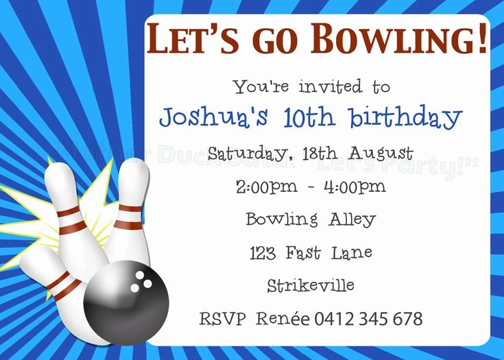 Bowling Party Invitation Template Free Luxury 8 Best Images About Sam S Bowling Party On Pinterest