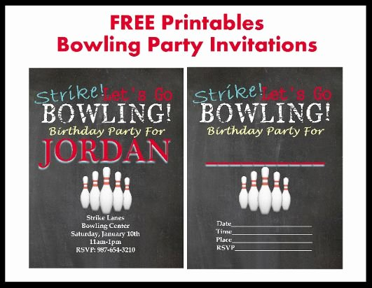 Bowling Party Invitation Template Free Unique 17 Best Bowling Printables Images On Pinterest