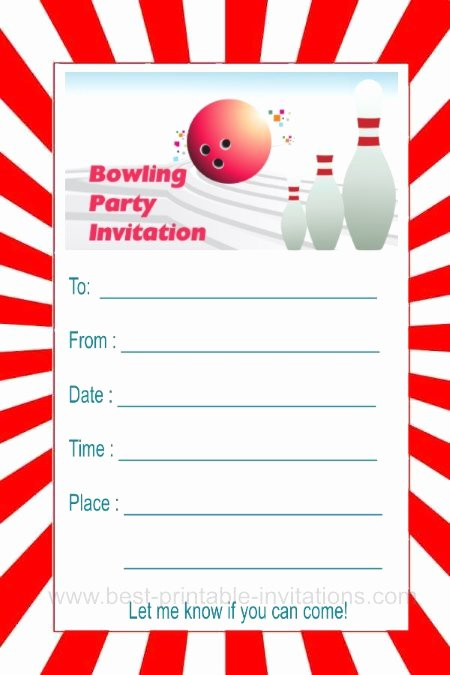 Bowling Party Invitation Template Fresh Bowling Party Invitations