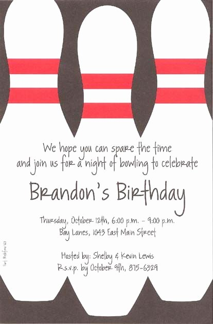 Bowling Party Invitation Template Inspirational Bowling Party Invitations Template Free Alex Birthday Ideas