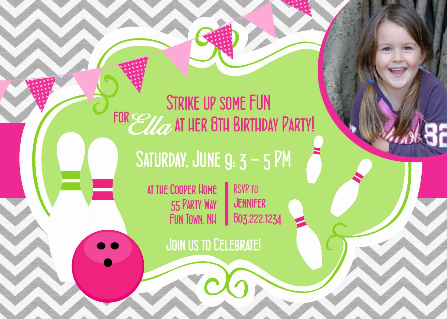 Bowling Party Invitation Templates Awesome Free Bowling Birthday Party Invitations Free Invitation
