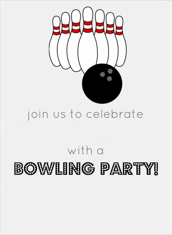 Bowling Party Invitation Templates Elegant 7 Free Sample Bowling Game Invitation Templates