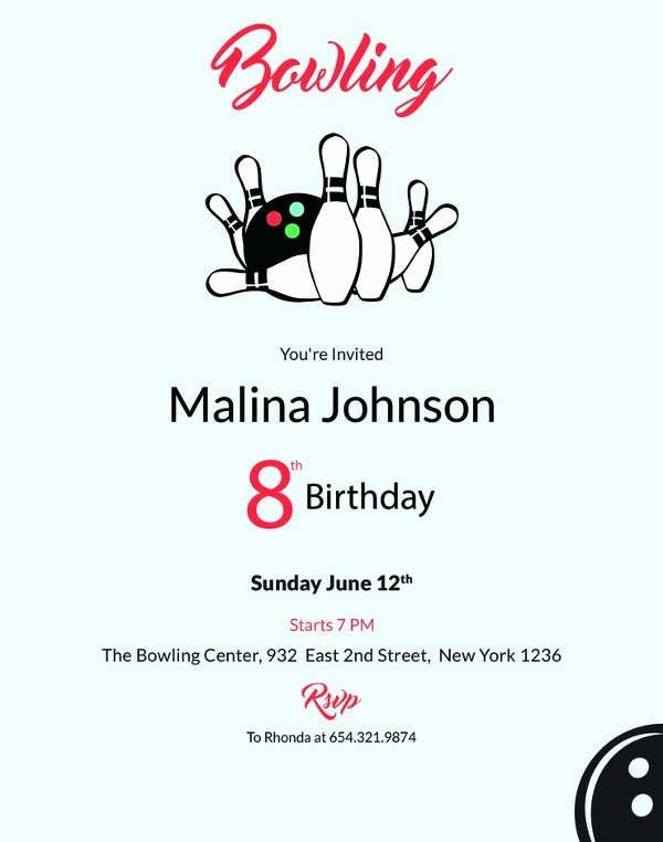 Bowling Party Invitation Templates Free Beautiful 24 Outstanding Bowling Invitation Templates & Designs