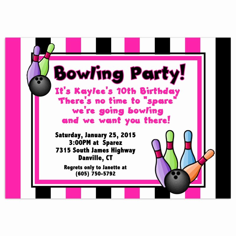 Bowling Party Invitation Templates Free Beautiful Free Bowling Birthday Party Invitations Free Invitation