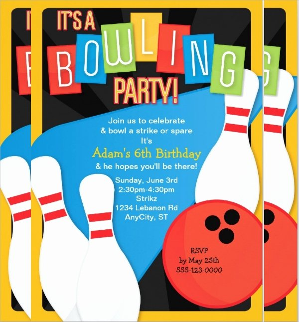 Bowling Party Invitation Templates Free Fresh 16 Bowling Invitation Templates Psd Vector Eps