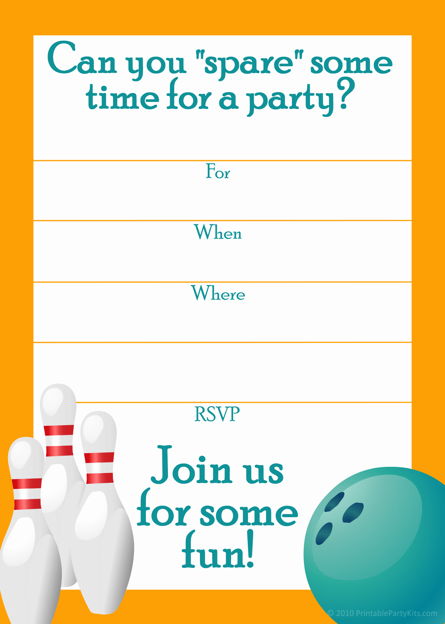 Bowling Party Invitation Templates Free Inspirational Free Printable Sports Birthday Party Invitations Templates