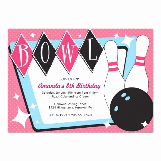 Bowling Party Invitation Templates Free Luxury Free Bowling Birthday Party Invitations Free Invitation