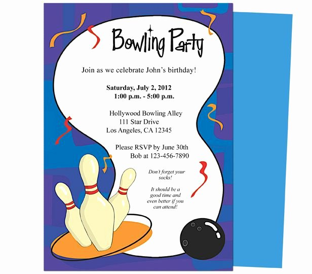 Bowling Party Invitation Templates Free Luxury It S A Bowling Birthday Invitations Template Printable