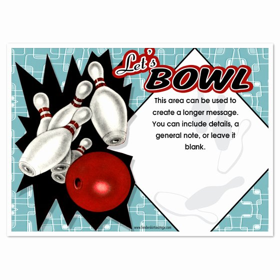 Bowling Party Invitation Templates Luxury Retro Bowling Party Invitations Invitations & Cards On