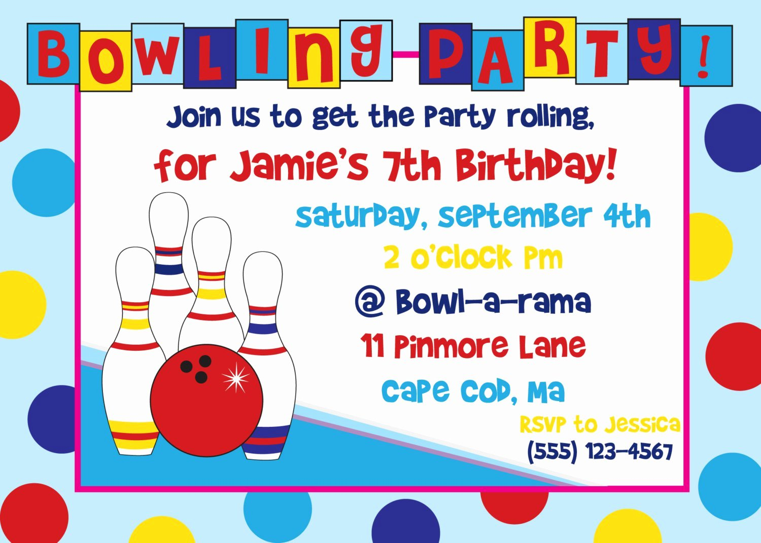 Bowling Party Invitation Templates Unique Bowling Birthday Party Invitations Free Templates