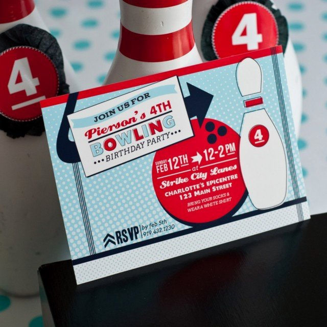 Bowling Party Invitations Free Best Of Pierson S Retro Bowling Party anders Ruff Custom Designs Llc
