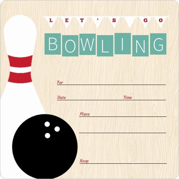 Bowling Party Invitations Free Inspirational Vintage Turquoise Fill In the Blank Bowling Invitation