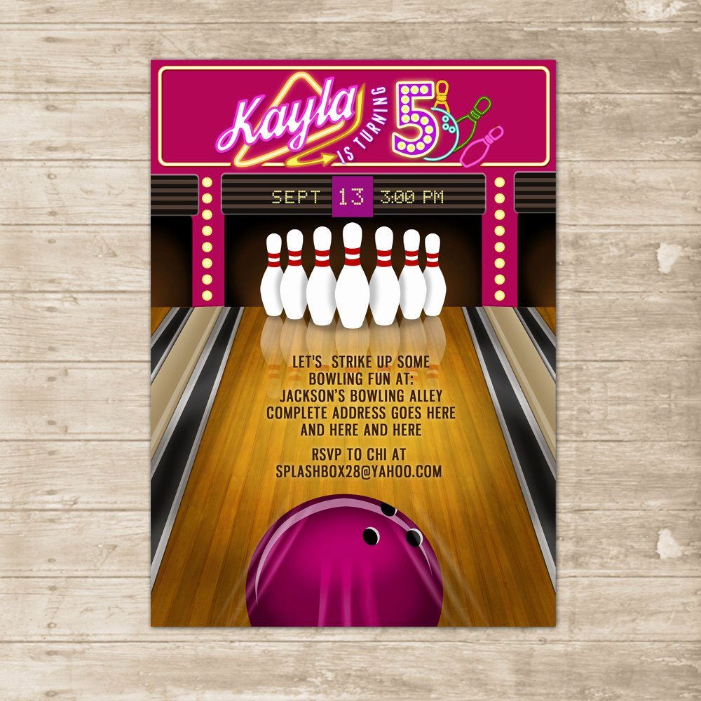 Bowling Party Invitations Free Luxury Bowling Party Invitation Bowling Lane Alley Ball Invite Birthday Printable Card On Storenvy