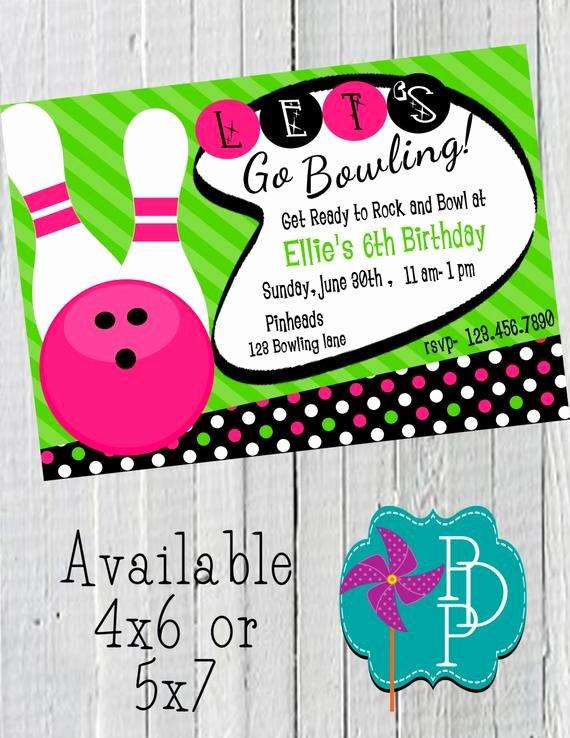 Bowling Party Invitations Free Unique Retro Bowling Girl Birthday Invitation Printable 4x6 or 5x7