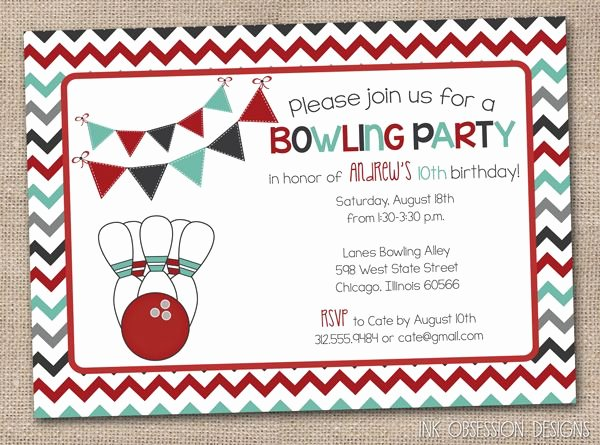 Bowling Party Invitations Templates Free Beautiful 54 Best Printable Birthday Invitation Images On Pinterest