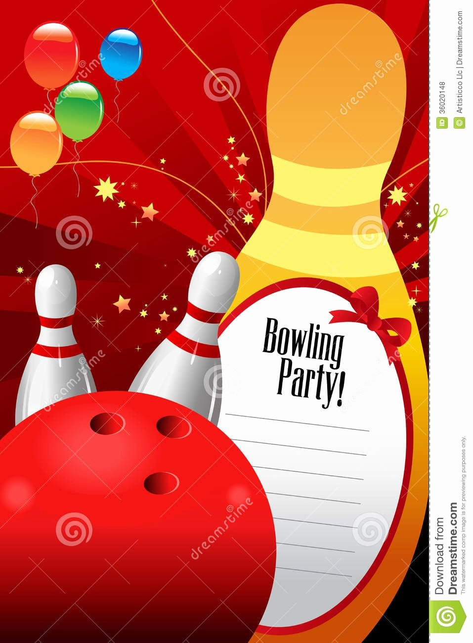 Bowling Party Invitations Templates Free Inspirational Free Bowling Invitation Template