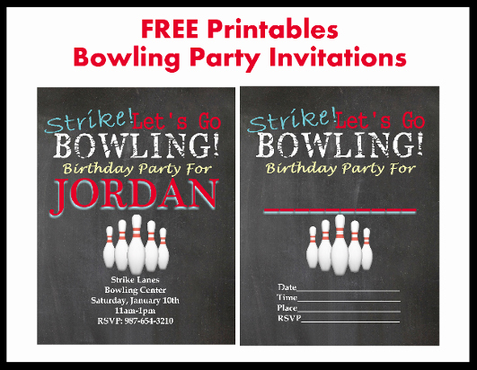 Bowling Party Invitations Templates Free Luxury Free Bowling Party Printable Invitations Printables 4 Mom