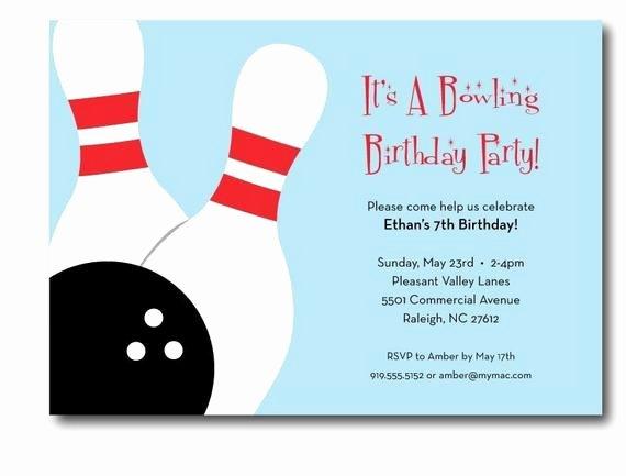 Bowling Party Invitations Templates Fresh Bowling Birthday Party Invitation Printable