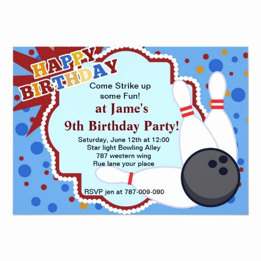 Bowling Party Invitations Templates Inspirational Bowling Birthday Party Invitation