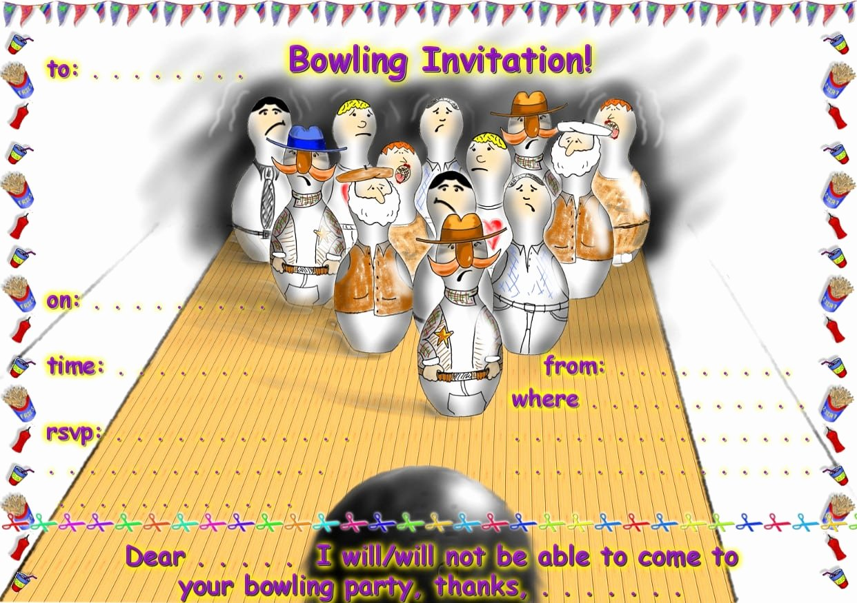Bowling Party Invitations Templates Lovely Free Bowling Party Invitation Printable