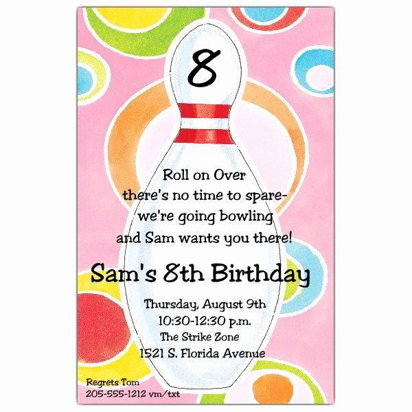 Bowling Party Invitations Templates Luxury Disco Dots Bowling Invitations