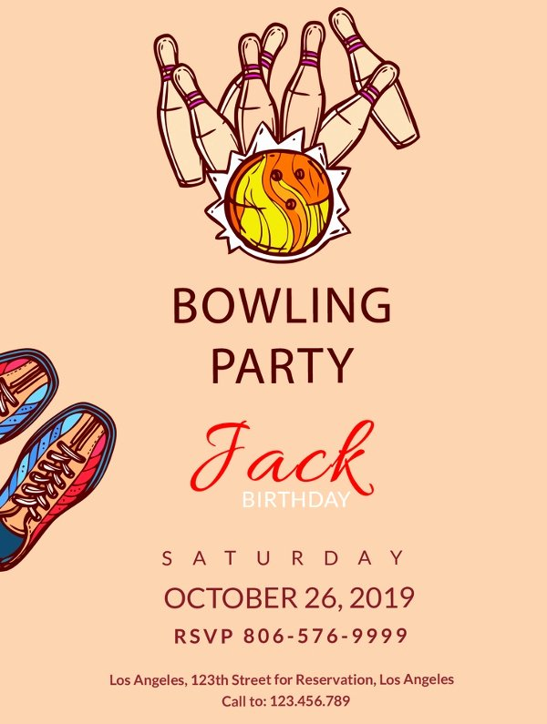 Bowling Party Invite Template Fresh 24 Outstanding Bowling Invitation Templates & Designs Psd Ai