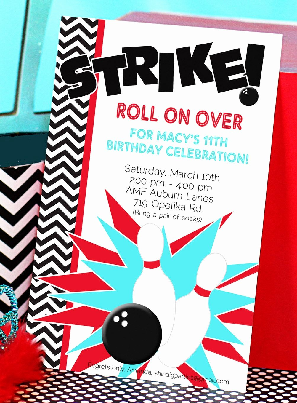 Bowling Party Invite Template Inspirational Bowling Party Invitation Bowling Birthday Invitation Bowling Invitation
