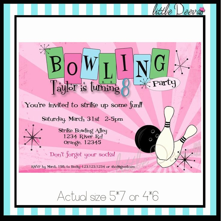 Bowling Party Invite Template New Best 25 Bowling Party Invitations Ideas On Pinterest