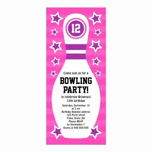 Bowling Party Invite Template Unique 8 Best Emma Party Images On Pinterest