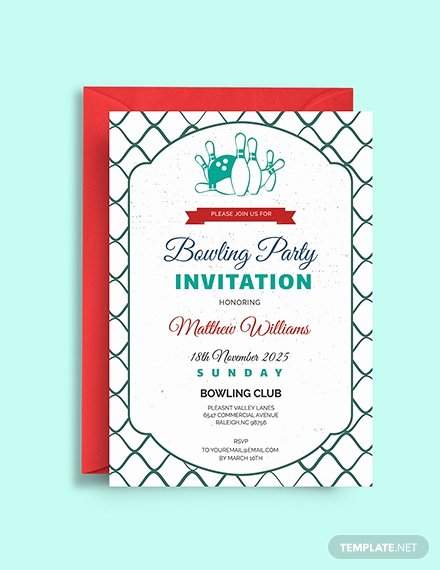 Bowling Party Invites Template Awesome Free Bowling Birthday Invitation Template Download 508