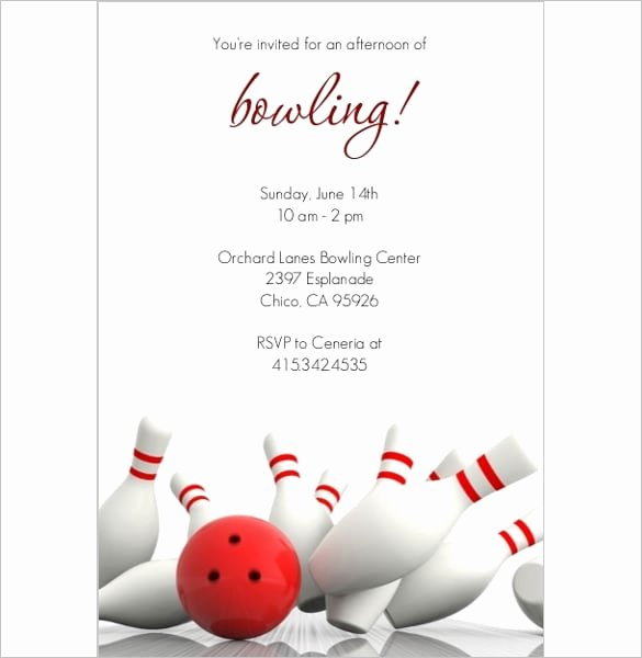 Bowling Party Invites Template Elegant Bowling Invitation Templates