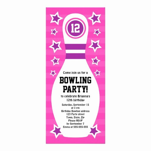Bowling Party Invites Template Fresh Free Printable Bowling Party Invitation Templates