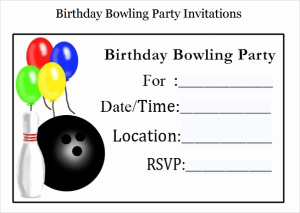 Bowling Party Invites Template Unique Sample Bowling Invitation Template 9 Free Documents