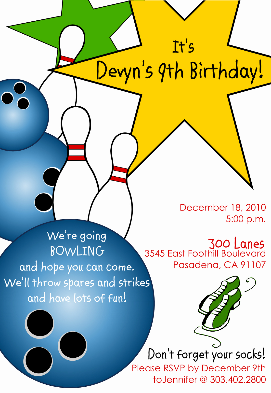 Bowling Party Invites Templates Lovely Free Printable Bowling Birthday Invitations
