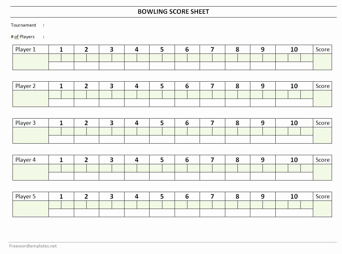 Bowling Scoring Sheet Excel Awesome Bowling Score Sheet